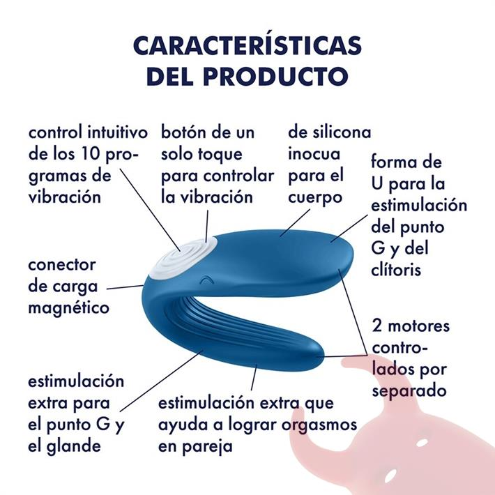 Estimulador de clitoris para parejas con vibrador