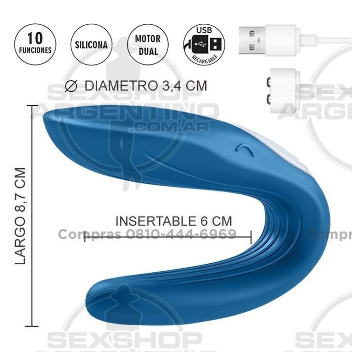 - Partner Whale Estimulador de clitoris para parejas con vibrador