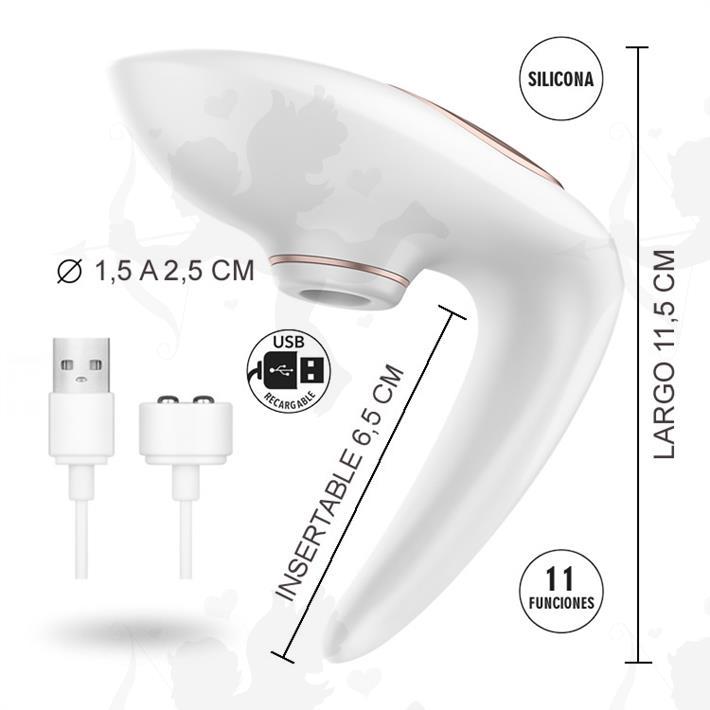 Succionador de clitoris para parejas con carga usb