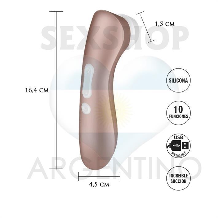 Satisfyer Pro 2 + Vibrador y Succionador de clitoris con carga USB