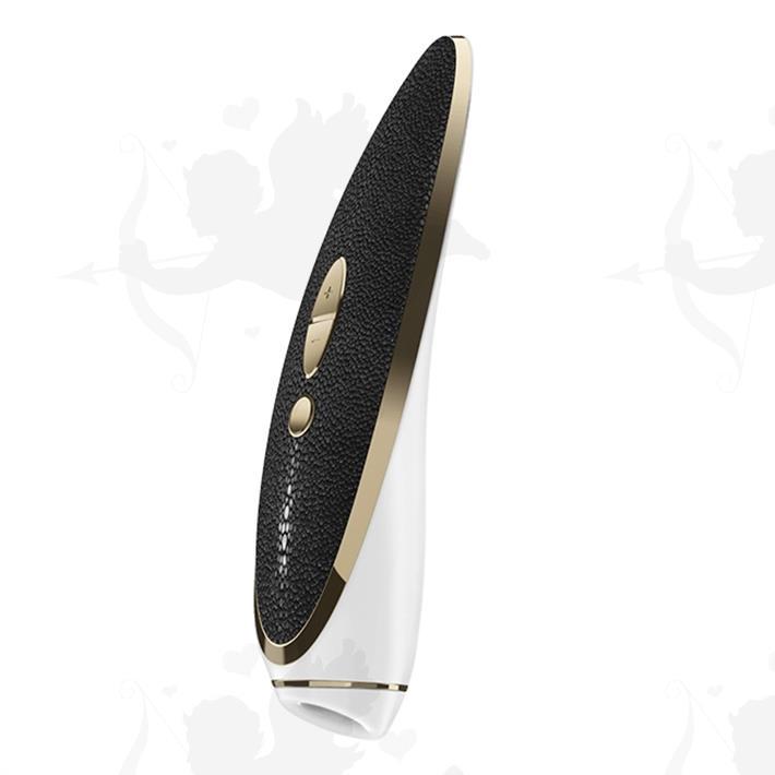 Cód: SS-SA-6556 - Luxury Haute Couture estimulador de clitoris vibrador con ondas de presion y carga USB - $ 18890