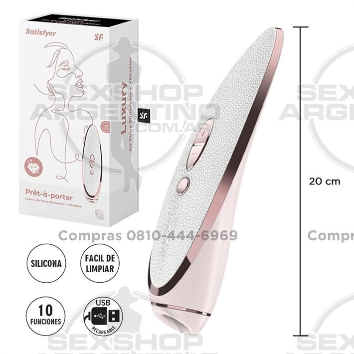 - Luxury Prêt-à-porter Estimulador de clitoris por ondas de presion y vibracion