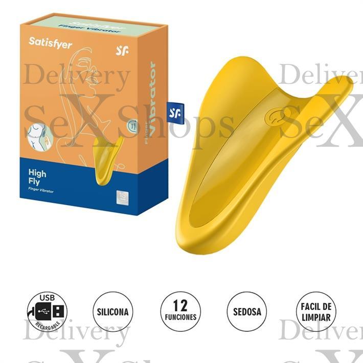 High Fly estimulador femenino con 12 modos de vibracion y carga USB
