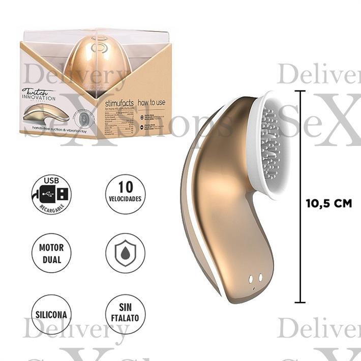 Masajeador clitorial con succionador y carga USB