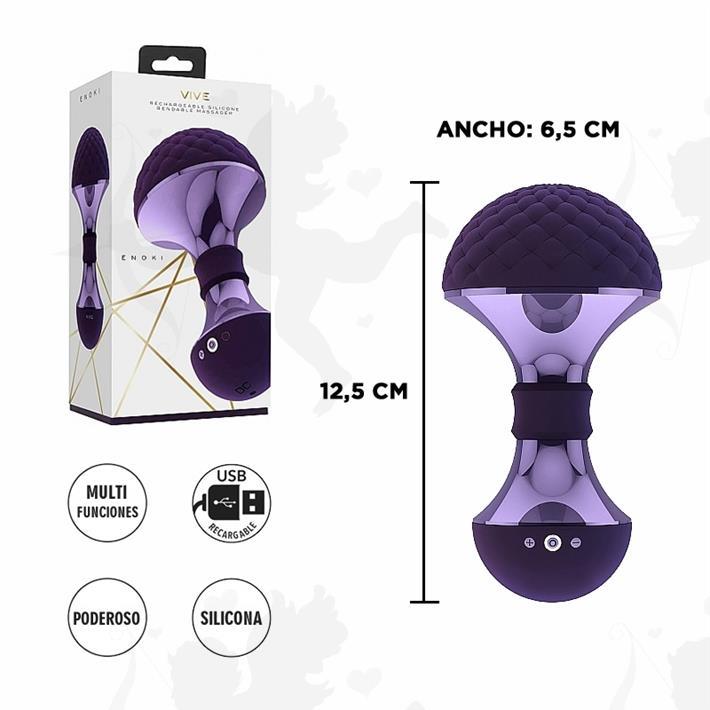 Masajeador vaginal con cabezal flexible y motor potente