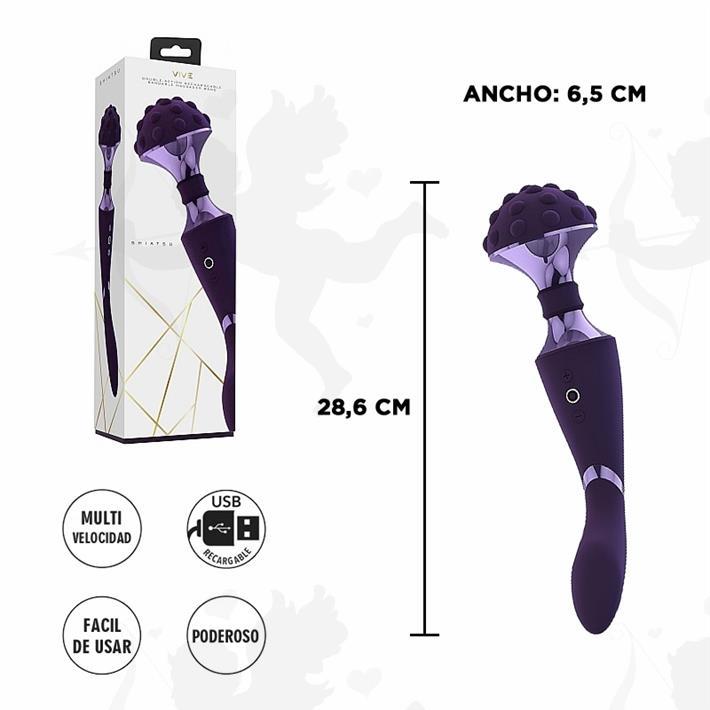 Doble vibrador masajeador con varias funciones y carga USB