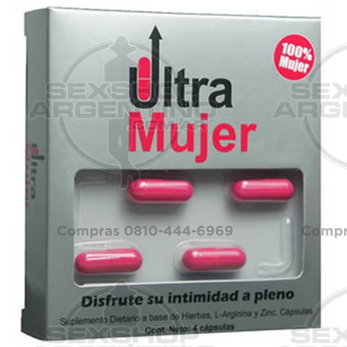 Productos eróticos, Vigorizantes naturales - Vigorizante femenino en cápsulas Ultra Mujer x4